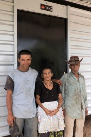 This multi-generational family, Dionisio, Felicita, Jose, and Guadalupe (not in photo) in front of their new home!