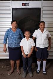 The Molina family Gloris, Arcenio and Jasmin