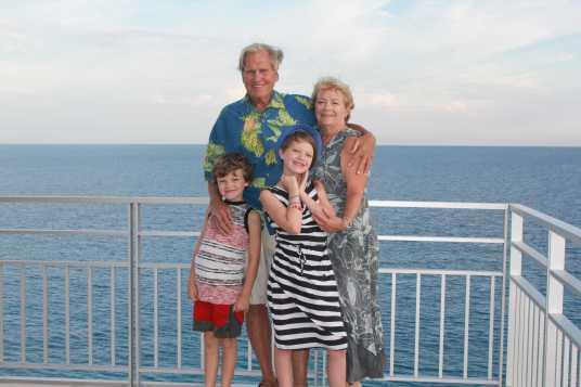 Lorraine, Dennis and grandchildren, Lukas and Alissa