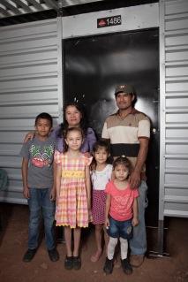 José, Silvia, Giovanni, Britani, Estefany, and Yesenia Rivas