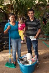 Santos & Claudia Bladimir with daughter Maria